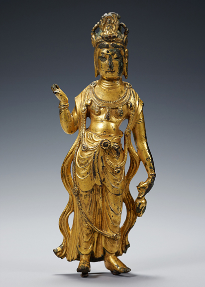Gilt-bronze Seated Buddha1